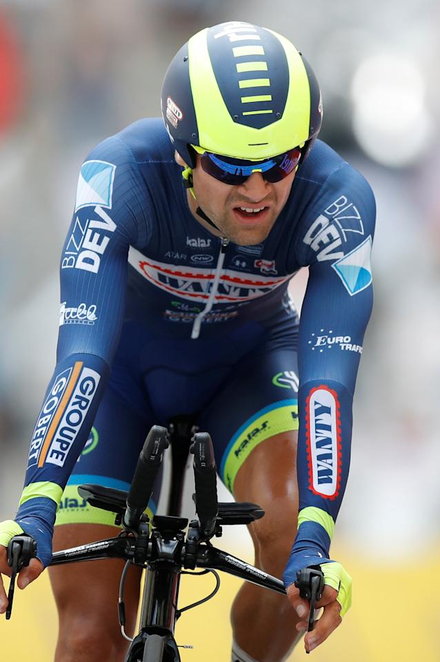 Cycling - The 104th Tour de France cycling race - The 22.5-km individual time trial Stage 20 from Marseille to Marseille, France - July 22, 2017 - Wanty-Groupe Gobert rider Marco Minnaard of the Netherlands on the finish line. REUTERS/Christian Hartmann