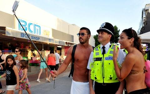 British police were sent to Magaluf in 2015 - Credit: reuters