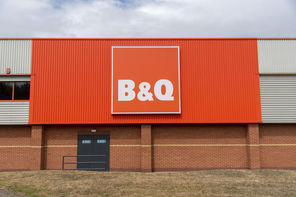 LONDON, UNITED KINGDOM - 2020/08/04: A DIY store B&Q logo at a branch in London. (Photo by Dave Rushen/SOPA Images/LightRocket via Getty Images)