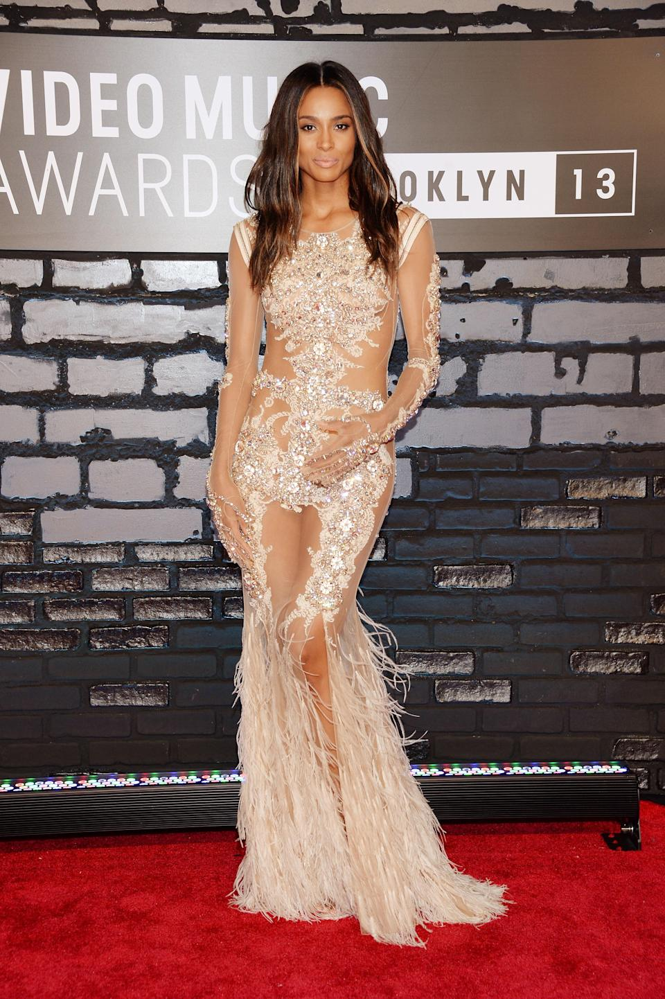 Ciara has had a longstanding love affair with Givenchy. This was one of her most luxurious looks from the fashion house.