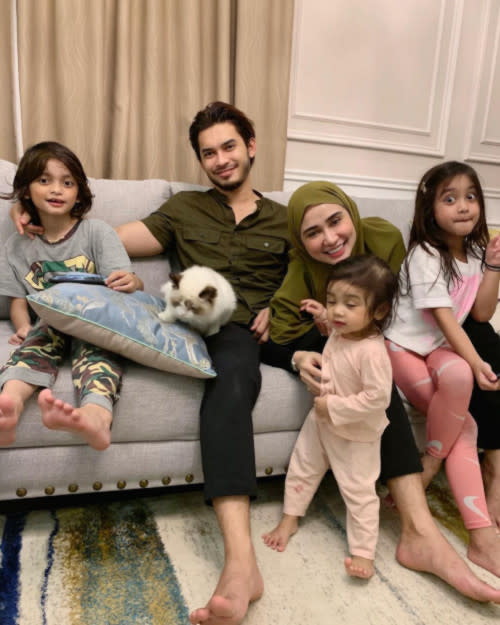 Aeril and wife Wawa Zainal have three children together