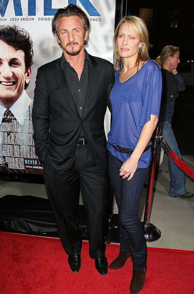 "<a href=""http://movies.yahoo.com/movie/contributor/1800019044"">Sean Penn</a> and <a href=""http://movies.yahoo.com/movie/contributor/1800019047"">Robin Wright Penn</a> at the Los Angeles premiere of <a href=""http://movies.yahoo.com/movie/1810041985/info"">Milk</a> - 11/13/2008"
