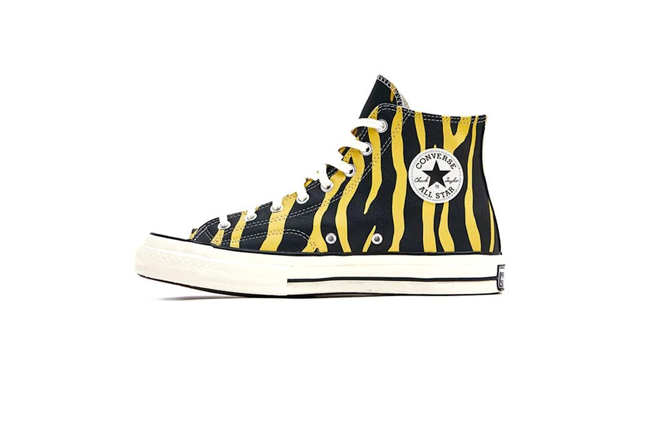 """Lace these up and listen to <em>Taking Tiger Mountain (By Strategy)</em>. Thank me later. —Sam Schube $90, Need Supply. <a href=""""https://needsupply.com/leather-archive-print-chuck-70-high-sneaker/M107642.html?lang=en_US"""">Get it now!</a>"""
