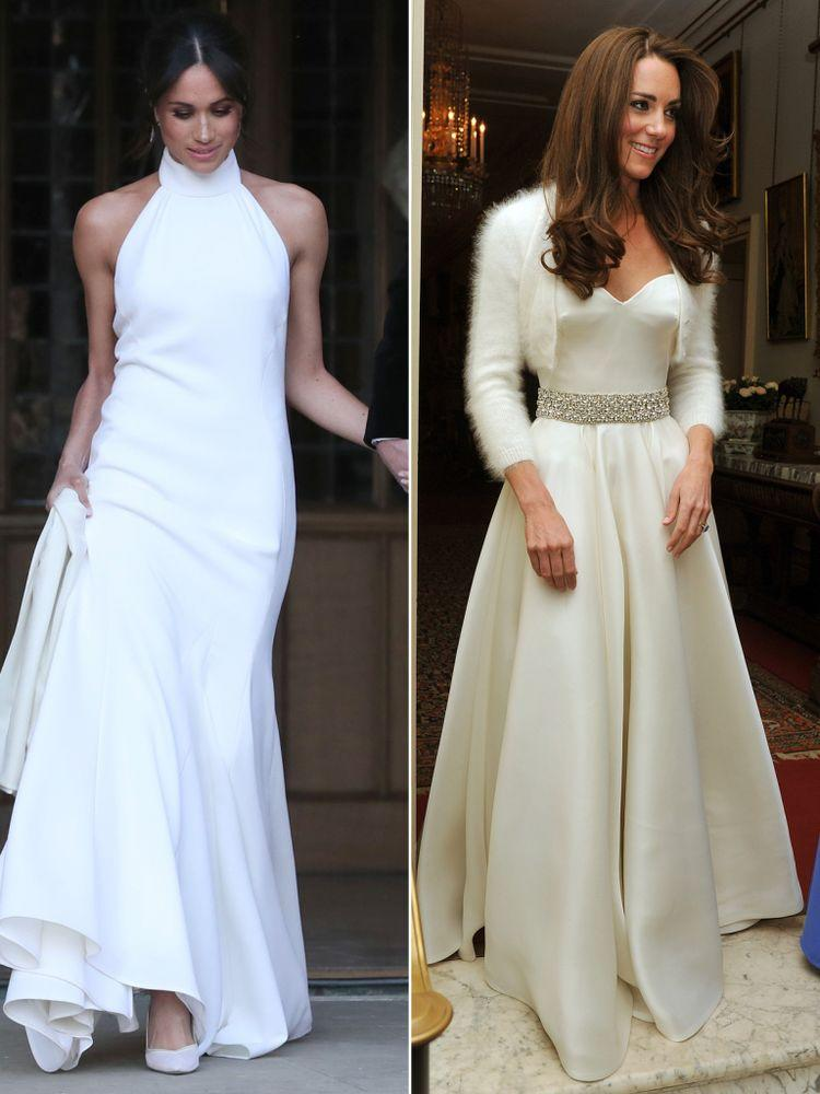 Meghan Markle on May 19, 2018 and Kate Middleton on April 29, 2011