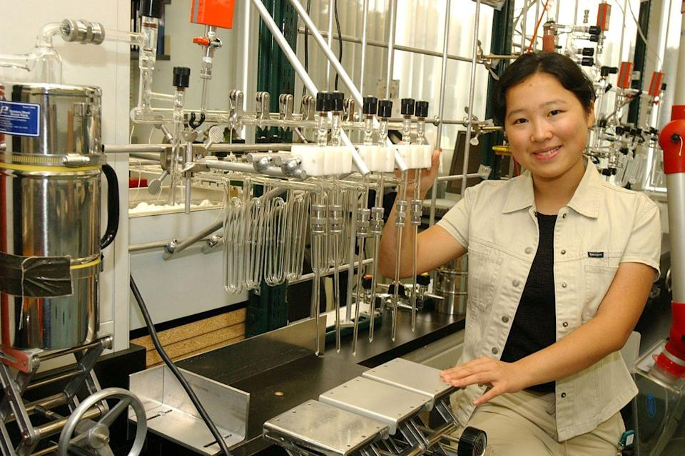 <p>A student spent her summer in 2010 working in a lab.</p>
