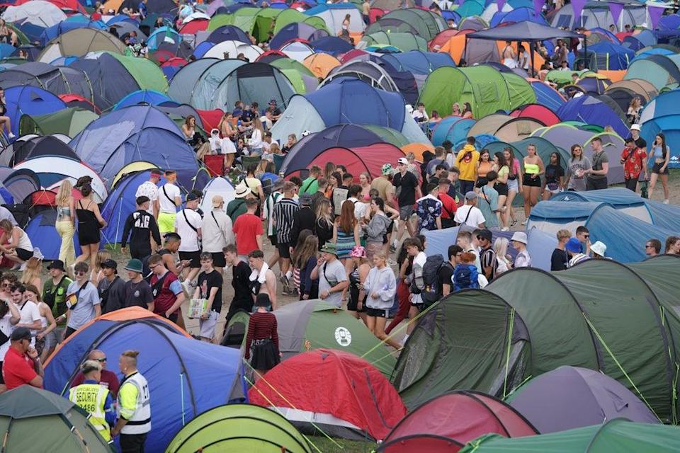 Festival-goers are being urged to test for Covid-19 before they go and when they get back (Kirsty O'Connor/PA) (PA Wire)