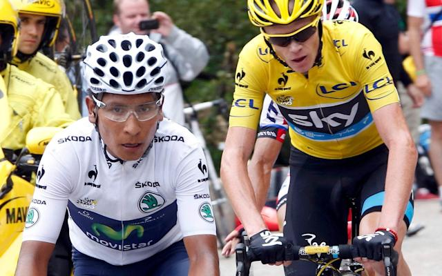 Nairo Quintana and Chris Froome - - REUTERS