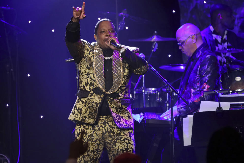 Mase performs on stage at the Pre-Grammy Gala And Salute To Industry Icons at the Beverly Hilton Hotel on Saturday, Jan. 25, 2020, in Beverly Hills, Calif. (Photo by Willy Sanjuan/Invision/AP)