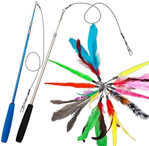 DILISS Feather Teaser Cat Toy. Image via Amazon.