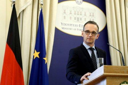 FILE PHOTO: German Foreign Minister Heiko Maas attends a news conference with his Greek counterpart Nikos Kotzias (not pictured) following their meeting at the Foreign Ministry in Athens, Greece, September 20, 2018. REUTERS/Costas Baltas