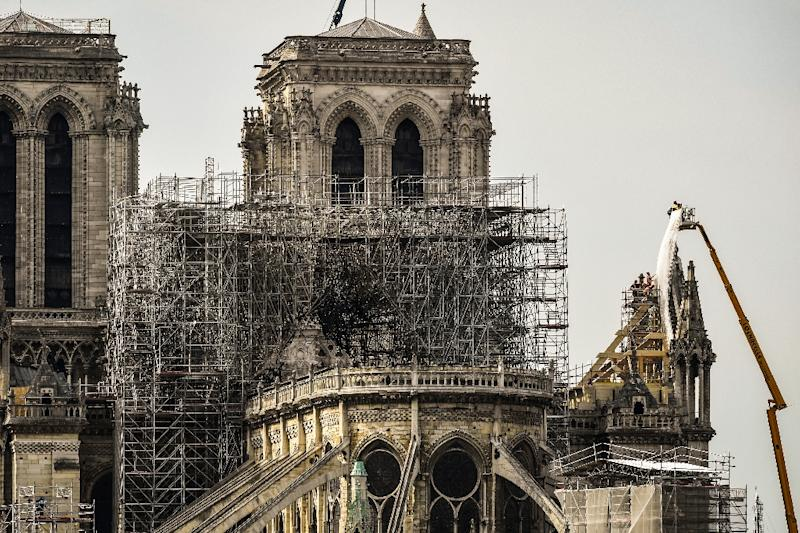 Small business owners near Notre-Dame face an uncertain future now the cathedral has been forced to close (AFP Photo/BERTRAND GUAY)