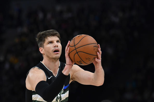 Kyle Korver is willing to give up his chance of winning a championship with the Bucks to support his Black teammates. (Photo by Aurelien Meunier/Getty Images)