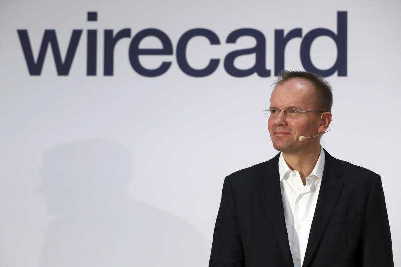 Markus Braun, CEO of financial services company wirecard, attends the earnings press conference in Munich, Germany, Thursday, April 25, 2019. (AP Photo/Matthias Schrader)