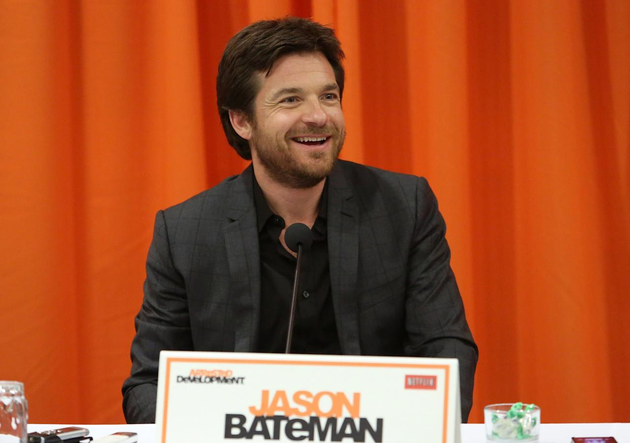 "UNIVERSAL CITY, CA - MAY 04:  Actor Jason Bateman attends The Netflix Original Series ""Arrested Development"" Press Conference at Sheraton Universal on May 4, 2013 in Universal City, California.  (Photo by Jesse Grant/Getty Images for Netflix)"