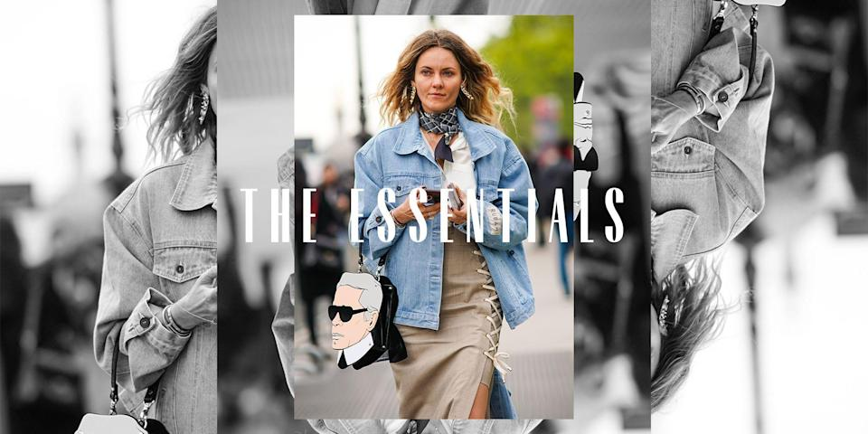 """<p><em>Welcome to <a href=""""https://www.marieclaire.com/the-essentials/"""" rel=""""nofollow noopener"""" target=""""_blank"""" data-ylk=""""slk:The Essentials"""" class=""""link rapid-noclick-resp"""">The Essentials</a>, our weekly series highlighting a must-have classic, key to building a timeless, pulled-together closet.</em></p><p>A denim jacket is a <a href=""""https://www.marieclaire.com/fashion/a22980642/best-denim-jacket/"""" rel=""""nofollow noopener"""" target=""""_blank"""" data-ylk=""""slk:tried-and-true staple"""" class=""""link rapid-noclick-resp"""">tried-and-true staple </a>that deserves its rightful space in everyone's closet. I'm not afraid to admit that I have a rotating <a href=""""https://www.marieclaire.com/fashion/g27659231/oversized-denim-jean-jacket-women/"""" rel=""""nofollow noopener"""" target=""""_blank"""" data-ylk=""""slk:collection of styles"""" class=""""link rapid-noclick-resp"""">collection of styles</a> hanging in my closet, from a cropped trucker to a dark acid-wash to a oversized light-wash—the list goes on and on. A jean jacket is <em>that</em> piece. The one so versatile that it won't be tucked away when seasons change and can adapt into new looks as your style evolves. Add a classic blue-wash over your shoulders on a summer night to combat the blasting A/C, layer your favorite knits under an oversized loose-fitting jacket for an effortlessly cool fall look, or go with bright denim and coordinating pants for a monochromatic look. While your denim look will never be as iconic as <a href=""""https://www.marieclaire.com/celebrity/news/a22284/britney-spears-wants-to-work-with-justin-timberlake/"""" rel=""""nofollow noopener"""" target=""""_blank"""" data-ylk=""""slk:Britney and Justin circa 2001"""" class=""""link rapid-noclick-resp"""">Britney and Justin circa 2001</a>, take a look at our all-time favorite jean jackets, below—one of these picks will soon be your new forever favorite. </p>"""