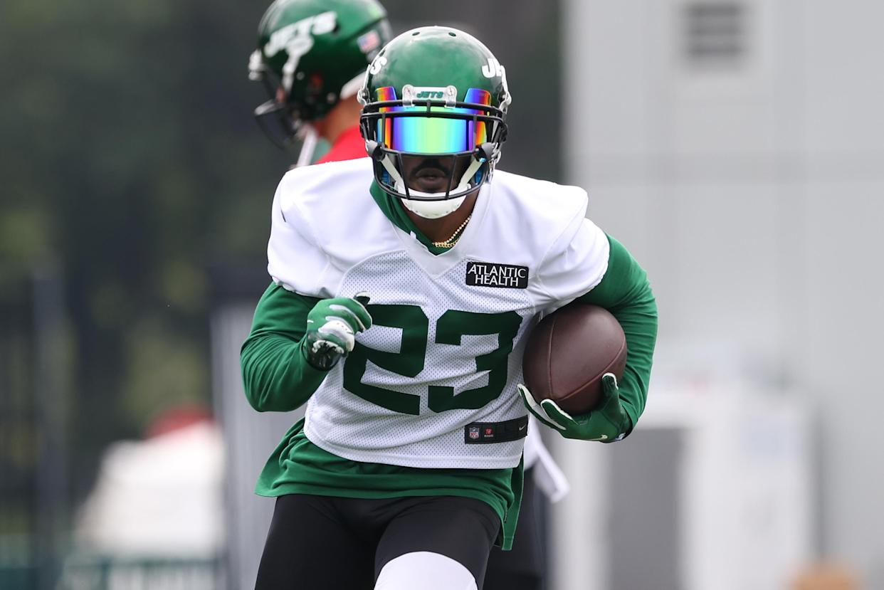 Tevin Coleman #23 of the New York Jets