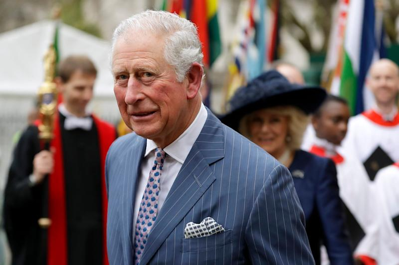 <strong>Prince Charles and Camilla the Duchess of Cornwall, in the background, leave after attending the annual Commonwealth Day service at Westminster Abbey earlier this month.</strong> (Photo: ASSOCIATED PRESS)