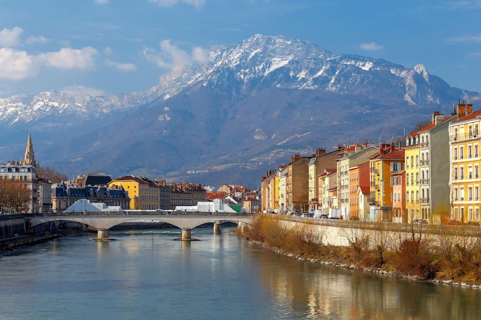 The city embankment along the river Isere. Grenoble. France. (Photo: Pel_1971 via Getty Images)