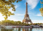"The Eiffel Tower in Paris is made up of more than 7,300 tons and 1,063 feet of iron. But during the summer heat, the structure's metal expands, which means that it can <a href=""https://kids.nationalgeographic.com/explore/5-reasons-why-hub/5-reasons-why-summer-is-cool/"" rel=""nofollow noopener"" target=""_blank"" data-ylk=""slk:grow more than six inches"" class=""link rapid-noclick-resp"">grow more than six inches</a> in height during the sizzling season."