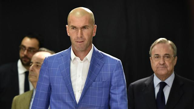Zinedine Zidane was appointed as Real Madrid's new coach following the departure of Rafael Benitez on Monday.