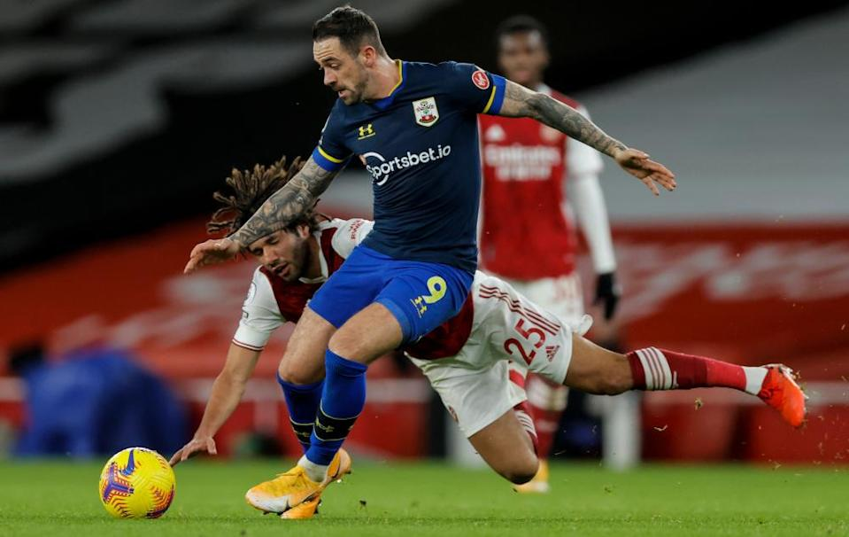 Danny Ings, seen here against Arsenal in December, could return for Southampton after testing positive for Covid.