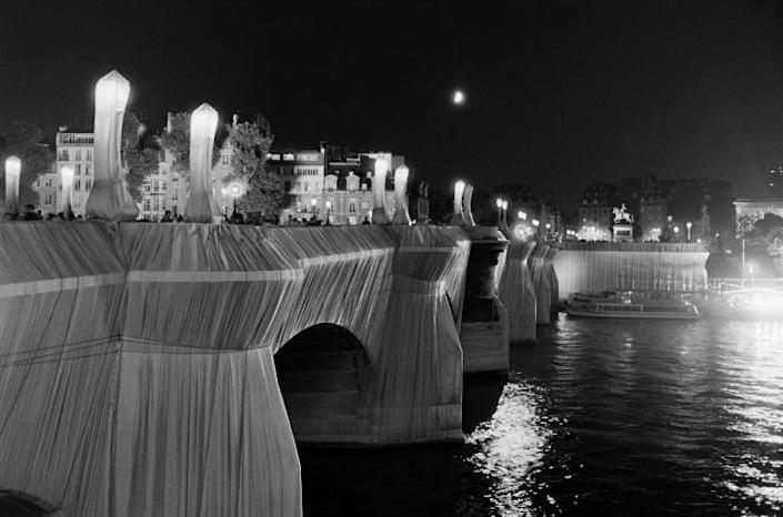 His 1985 project covering Paris's oldest bridge, the Pont Neuf, is one of his most famous works (AFP Photo/Pierre GUILLAUD)