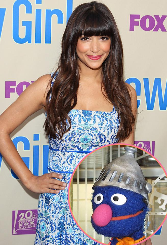 "<strong>Hannah Simone (""New Girl""):</strong> Super Grover, obviously! He was amazing. He was the best superhero in the world. He was on ""Sesame Street"" and he wore a little tin hat and a cape. Super Grover taught you about both near and far! Trust me, best superhero ever. I love him."