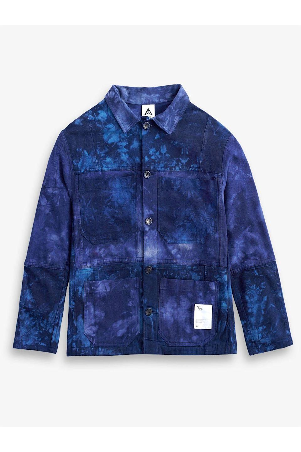 """<p><strong>The Wasted Co</strong></p><p>thewastedco.com</p><p><strong>$300.00</strong></p><p><a href=""""https://thewastedco.com/collections/all/products/recraft-chore-jacket-indigo-shibori"""" rel=""""nofollow noopener"""" target=""""_blank"""" data-ylk=""""slk:Shop Now"""" class=""""link rapid-noclick-resp"""">Shop Now</a></p><p>Sustainability is a part of each stage of creation at the Wasted Co, including eco-friendly production and fabrics. Most notable is the brand's use of Japanese Washi, a fabric created from tree bark fibers using craft techniques dating back 1,400 years. </p>"""
