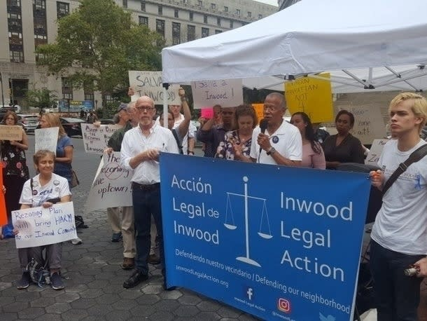 Inwood rezoning opponents pointed to the mayor's recent calls for racial equity as their efforts to stop the plan faced appeals court.