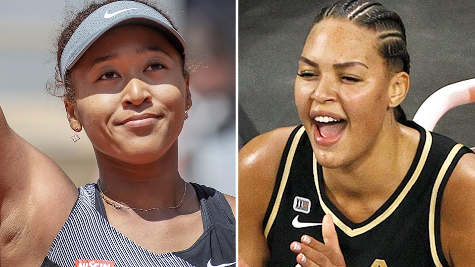Naomi Osaka's decision to withdraw from the French Open was backed by Australian basketball star Liz Cambage, who called for changes to the way athletes deal with the media. Pictures: Getty Images