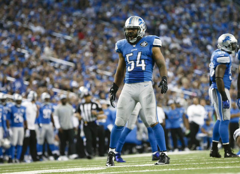 DeAndre Levy filed an injury grievance over the Lions cutting him this offseason. (AP)