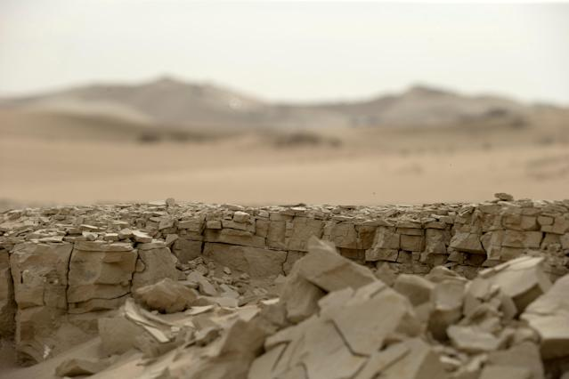 Dakar Rally - 2018 Peru-Bolivia-Argentina Dakar rally - 40th Dakar Edition stage one, Lima to Pisco - January 6, 2018 - Dried earth is seen near Pisco. Picture taken on January 6, 2018. REUTERS/Andres Stapff