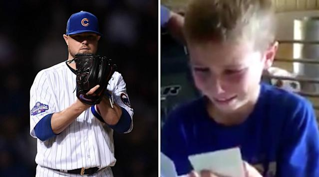 Nine-year-old Kolt Kyler became an internet sensation this week after he broke down in tears when his dad surprised him with tickets to a Cubs game.