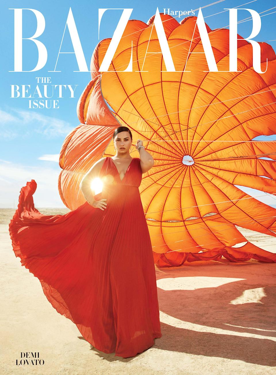 Demi Lovato opens up about her relationships and personal struggles in the May issue of Harper's Bazaar. (Photo: Alexi Lubomirski/Harper's Bazaar)