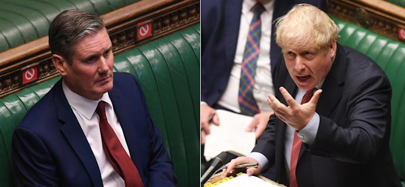 Keir Starmer and Boris Johnson clash at prime minister's questions (Parliament)