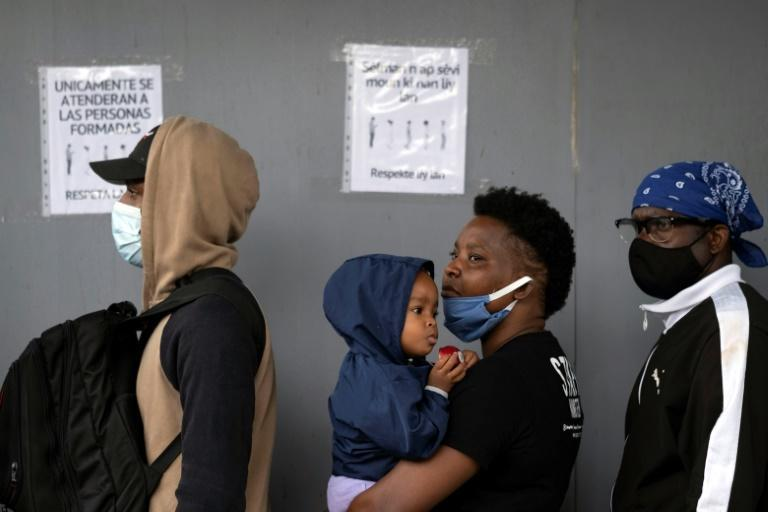 Tens of thousands of Haitian migrants have arrived in Mexico in recent months, many of whom had previously been living in South America (AFP/Guillermo Arias)
