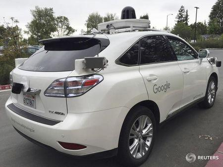 A Lexus version of a Google Self Driving car is shown in Moutain View