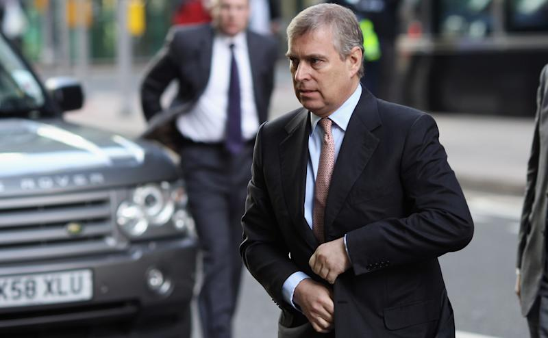 Prince Andrew The Duke of York arrives at the Headquarters of CrossRail in Canary Wharf on March 7, 2011 in London. Prince Andrew has been accused by Virginia Roberts Giuffre of raping her when she was a teenager.  (Photo: Dan Kitwood via Getty Images)