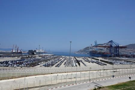 Car industry terminal is pictured at Tanger-Med port in Ksar Sghir near the coastal city of Tangier