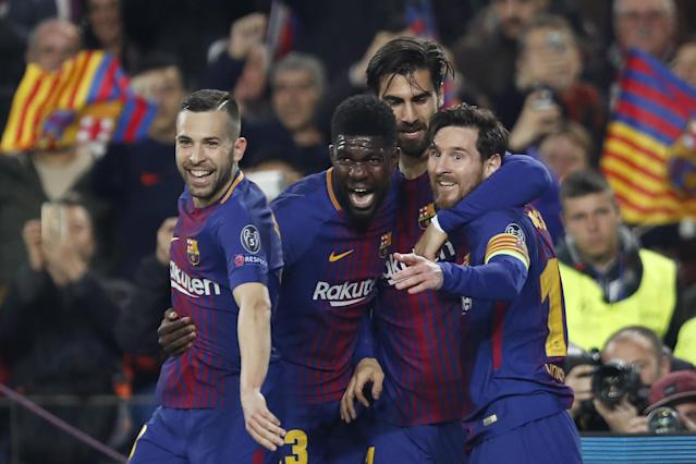 Barcelona is back in the Champions League quarterfinals, but the club has done atypically poorly at this stage in recent years. (Getty)