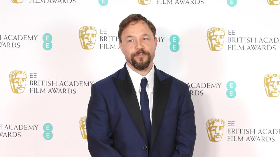Stephen Graham poses in the Winners Room during the EE British Academy Film Awards 2020 at Royal Albert Hall on February 02, 2020. (Photo by Mike Marsland/WireImage )