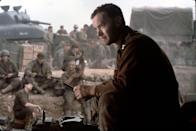 "Tom Hanks leads the troops in Steven Spielberg's World War II classic ""Saving Private Ryan."""