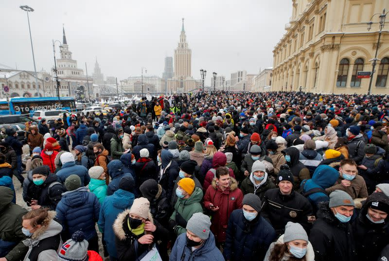 FILE PHOTO: Rally in support of Alexei Navalny in Moscow