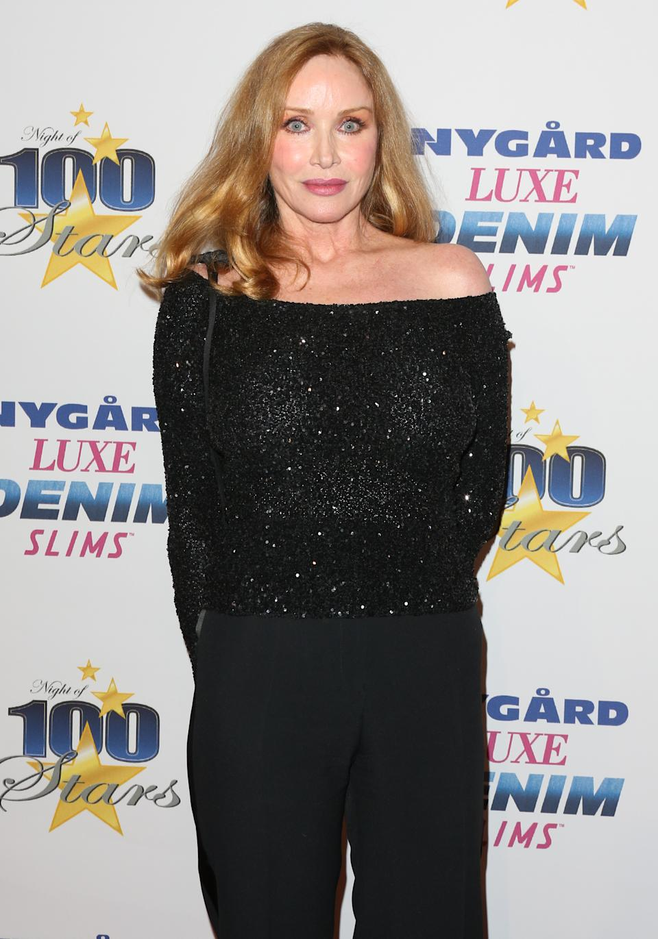 "Actress Tanya Roberts attends the 27th annual ""Night Of 100 Stars"" black tie dinner viewing gala at The Villa Aurora on February 26, 2017 in Pacific Palisades, California."