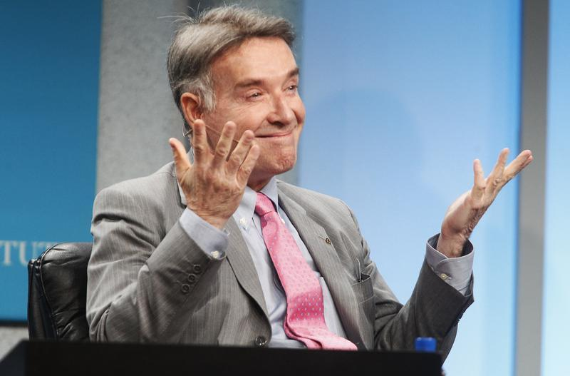 Brazilian Batista, chairman and CEO of EBX Group, gestures during the Milken Institute Global Conference in Beverly Hills