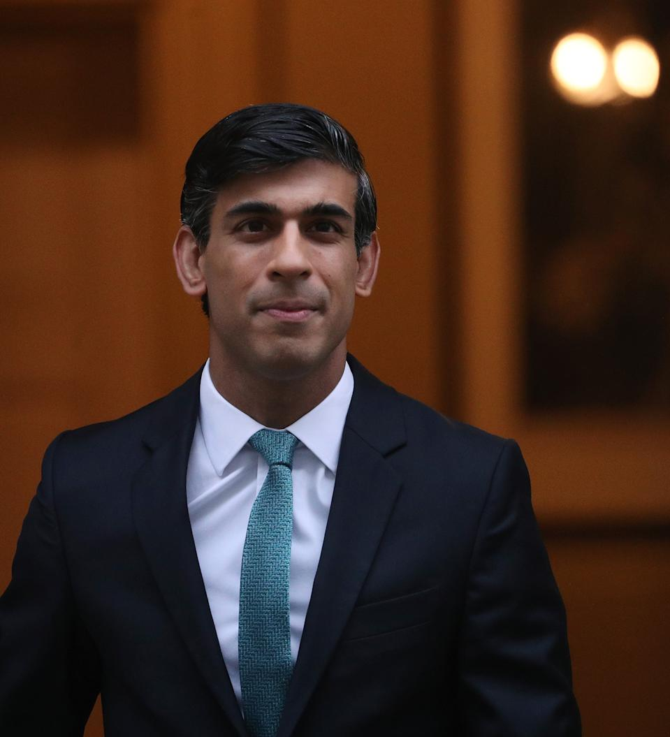 Chancellor of the Exchequer Rishi Sunak leaves 11 Downing Street, London, ahead of delivering his one-year Spending Review in the House of Commons. (Photo by Yui Mok/PA Images via Getty Images)
