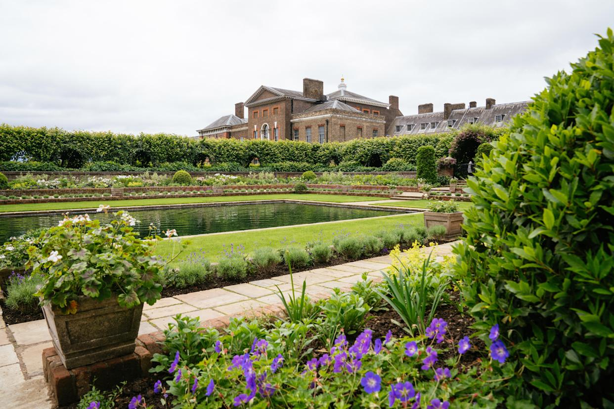 The Sunken Garden has been redesigned for the unveiling of the statue of Diana. (Kensington Palace)