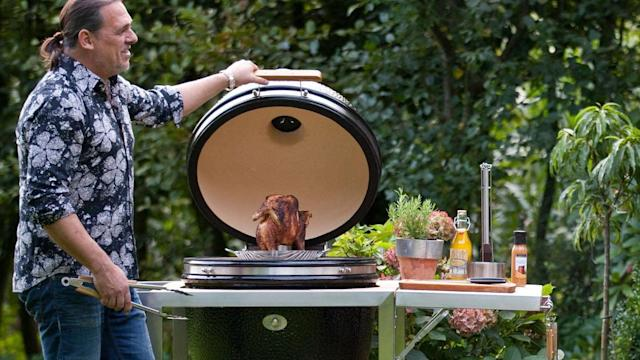 In order to give grill owners a break, the Monolith BBQ Guru Edition grill comes with smart tech built right in to automate temperature control. Users can control the grill with their voice, phone, or PC.