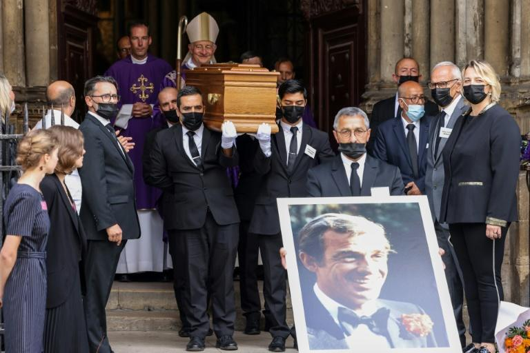 The funeral brought together Belmondo's family, friends and film celebrities (AFP/Thomas COEX)