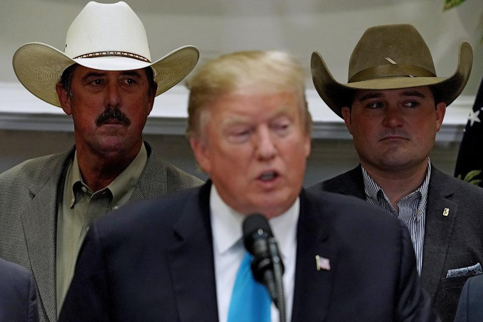 WASHINGTON, DC - MAY 23: U.S. President Donald Trump delivers remarks in support of farmers and ranchers in the Roosevelt Room at the White House May 23, 2019 in Washington, DC. As the U.S.-China trade war continues to hurt American farmers with tariffs on everything from peanut butter to soybeans and orange juice, the federal government announced Thursday it will give an additional $16 billion bailout to those most affected. (Photo by Chip Somodevilla/Getty Images)